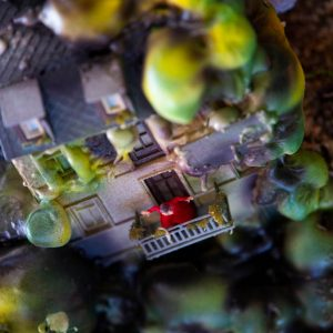 Zelina world Glitch rastlinná inštalácia detail